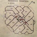 Le plan du 4è étage de la résidence