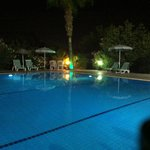 The pool at night