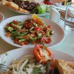 le kebap et salade