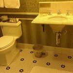 Bathroom in Bluebird room with original marble