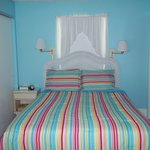 Snook, room 1; studio that sleeps 2 with a queen bed and full kitchen
