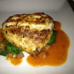 Seared black grouper