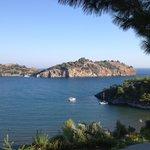 Blick vom Hotel aufs Meer
