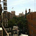 Vista dal balcone del secondo piano dell'hotel