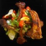Lamb & fresh salad