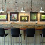 Counter Seating and paintings by local artist