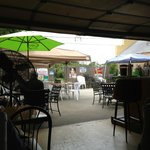 Taken from the bar outside looking to the patio