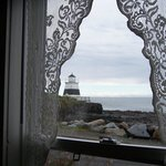 The lighthouse from the cottage window