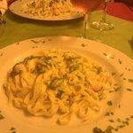 pasta courgette crevettes