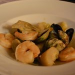 Shrimp, mussels and clams with artichokes