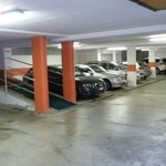 Roofed parking