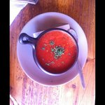 Tomato soup for entree