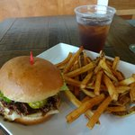 The Bulgogi Burger combo platter, on sale for $9.95