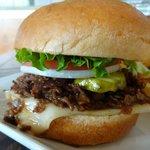 A close-up of the Bulgogi Burger