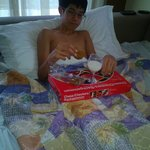 Grandson breakfast in bed