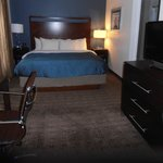 King suite bed area