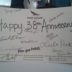 Our anniversary card from the staff