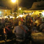 Jam Session on Courthouse Square on Evening We Checked In to the Motel
