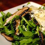 Arugula, Mushroom, Shaved Asiago Salad