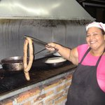Grill master Patricia Hernandez Zuniga