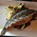 whole trout with seasonal veggies at Local