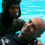 Rescue training. Yann is in good hands with Farzad.