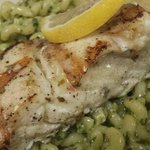 Alaskan halibut with fresh pesto