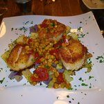 scallops from diner a the Story Inn