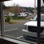 voici la vue depuis les chambres du rez !