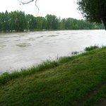 Very full La Loire River