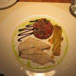 Sea bass and ratatouille