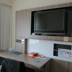 View of TV in room