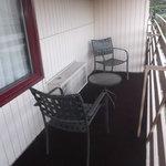 Balcon de la chambre 124 au 17 août 2013.