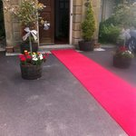 Red Carpet for a Wedding Party