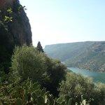 Il lago artificiale sul fiume Flumendosa