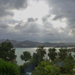 View across the lake after thunder storm