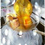 Mango Sorbet mit Sekt