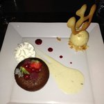Moelleux au chocolat,crème anglaise
