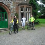 Start of day 2 Hadrian's cycleway, at Oakwood Park Hotel