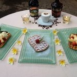nice waffle with fruit or ice Cream