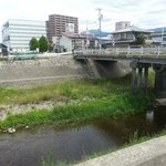 Small river right outside the ryokan