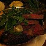 the main dish (entrecôte) to be shared -- simply succulent!