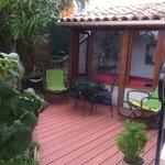 terrasse appartenant a la chambre Flore
