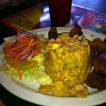 mofongo with Carne frita