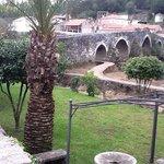 Xardín, paseo e ponte medieval