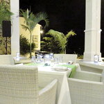 Restaurant interior - open porch style