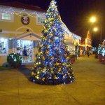 Entrada com  árvore de Natal.