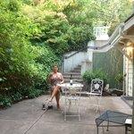 Private patio!