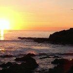 A beautiful walk at sunset