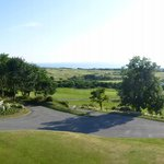 a view over the golf course to the north sea